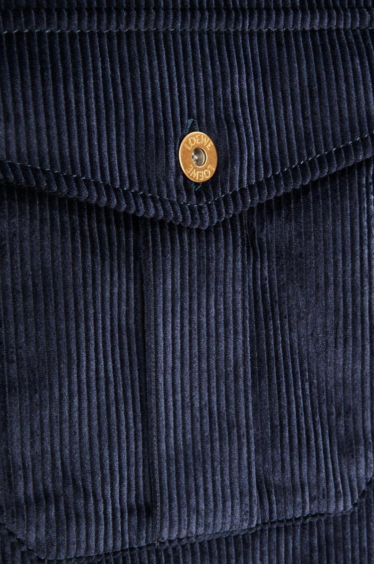 LOEWE Corduroy shirt in cotton Dark Navy Blue pdp_rd