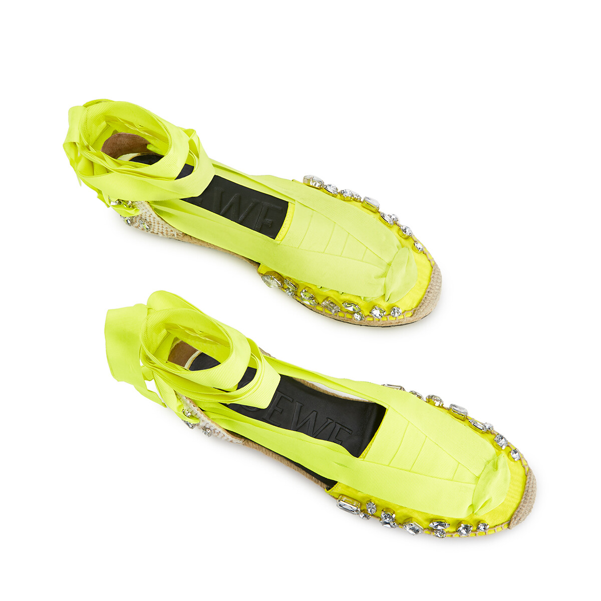 LOEWE Espadrille In Polyester Yellow Fluo front