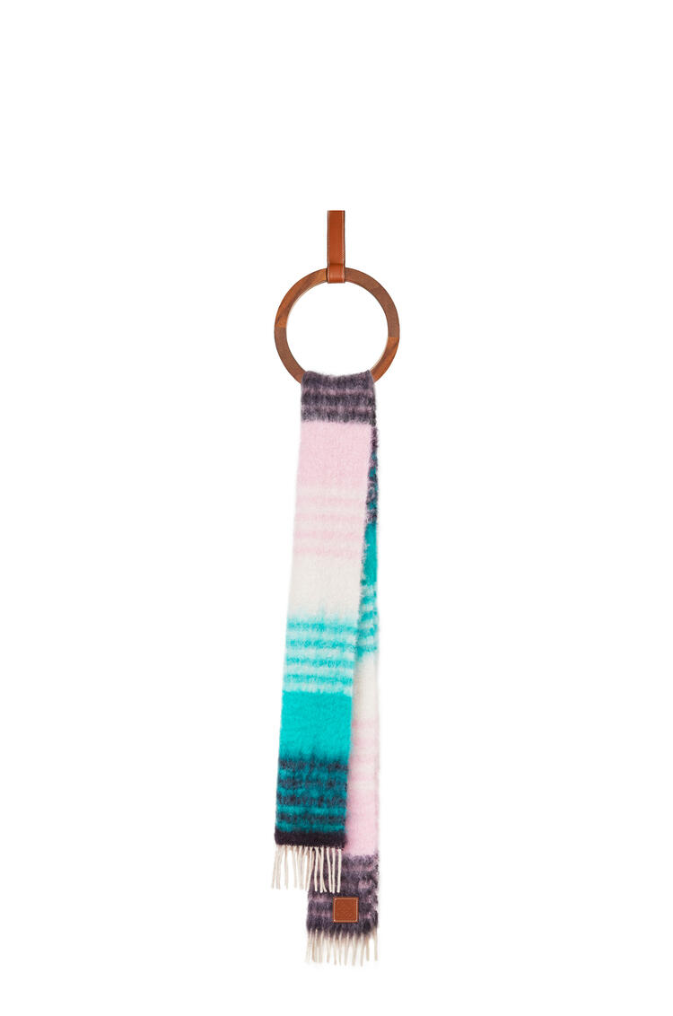 LOEWE 28 x 185 cm スカーフ(ストライプ モヘア) multicolour/green pdp_rd