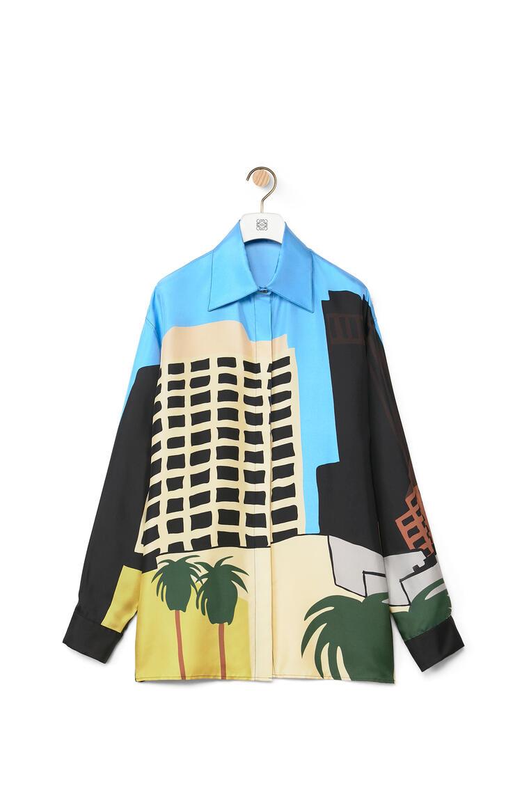 LOEWE Camisa de seda estampada L.A. Series Multicolor pdp_rd