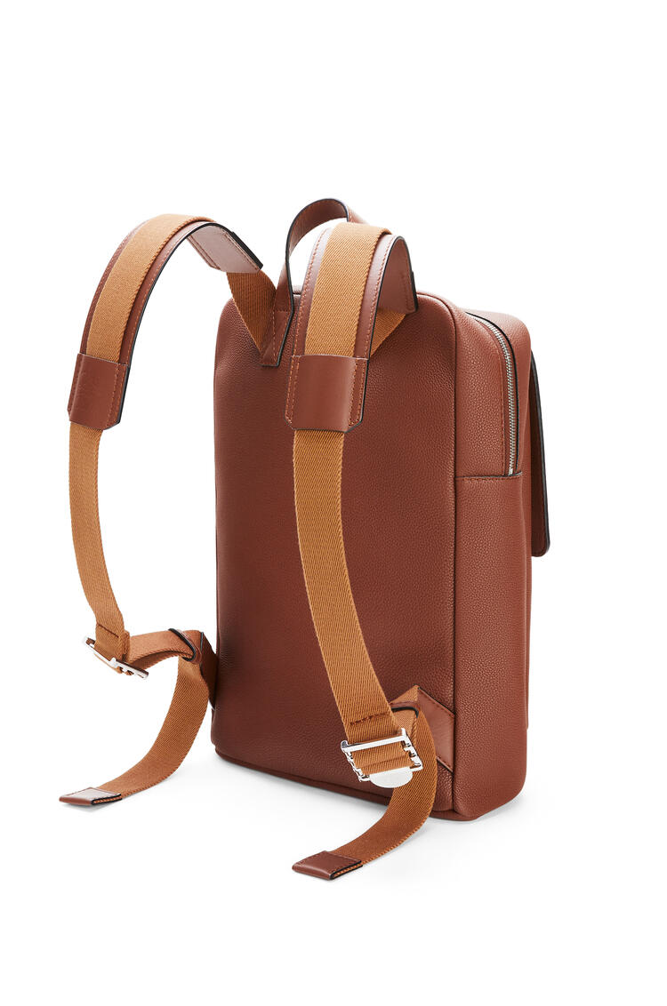 LOEWE Military Backpack in soft grained calfskin Cognac pdp_rd