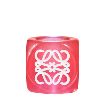 LOEWE Anagram Small Dice Red front