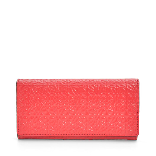 LOEWE Continental Wallet Poppy Pink front
