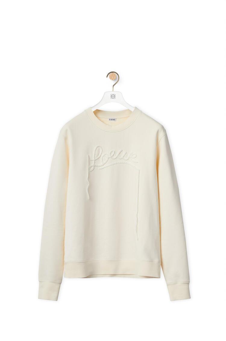 LOEWE LOEWE embroidery sweatshirt in cotton White Ash pdp_rd