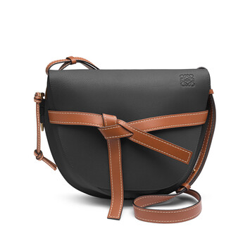 LOEWE Gate Bag Black/Pecan Color front