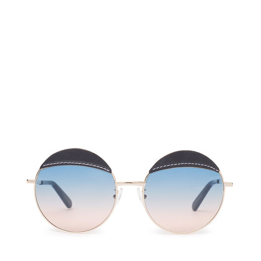 LOEWE Round Sticth Sunglasses Blue/Blue Gradient Peach all