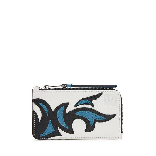 LOEWE Coin Card Holder Cowboy black/light blue front