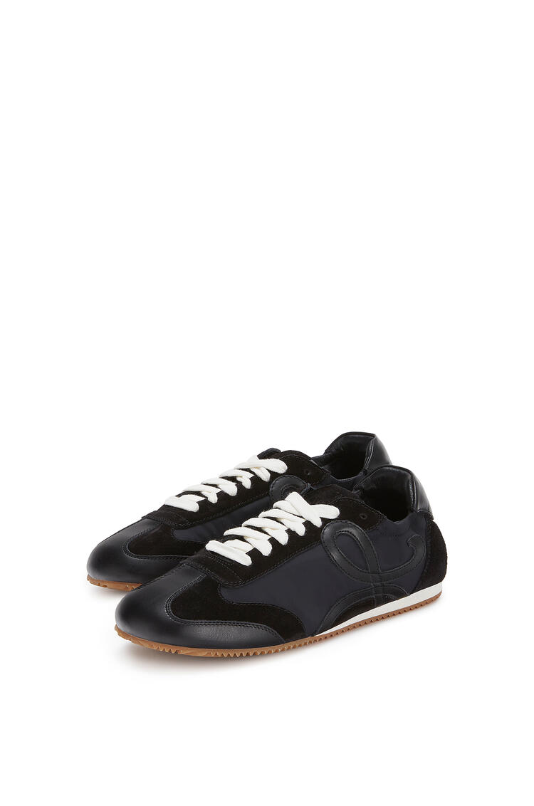 LOEWE Ballet runner in nylon and calf Black pdp_rd