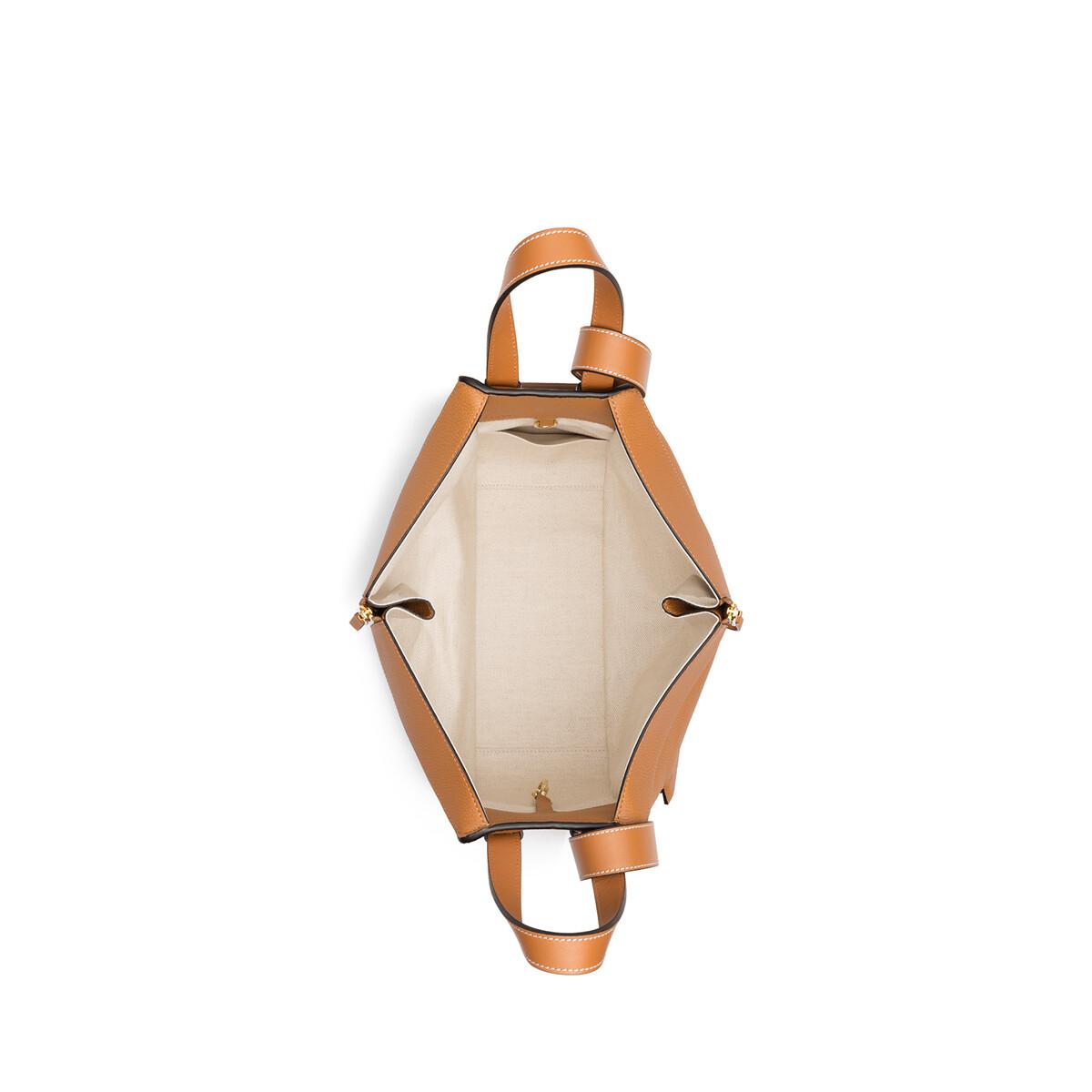 hammock small bag light caramel   loewe