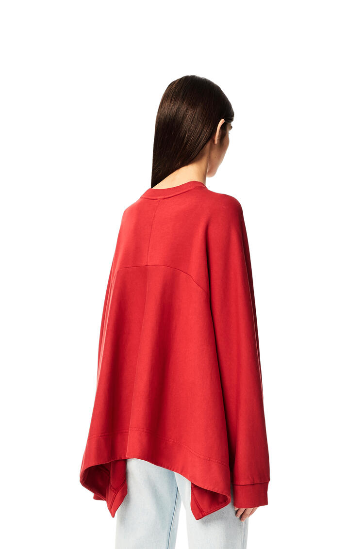 LOEWE Anagram embroidered oversize sweatshirt in cotton Red pdp_rd