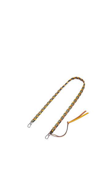 LOEWE Thin Braided strap in classic calfskin Avocado Green/Khaki Green pdp_rd