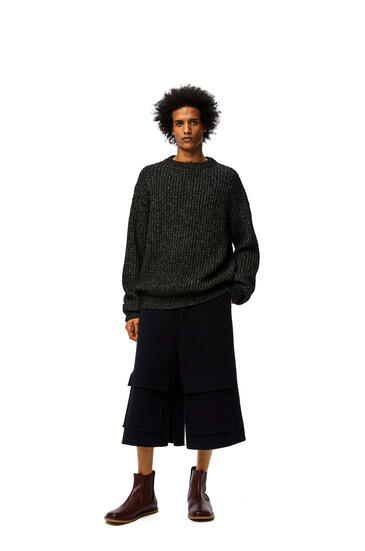 LOEWE Oversize sweater in polyester Black pdp_rd