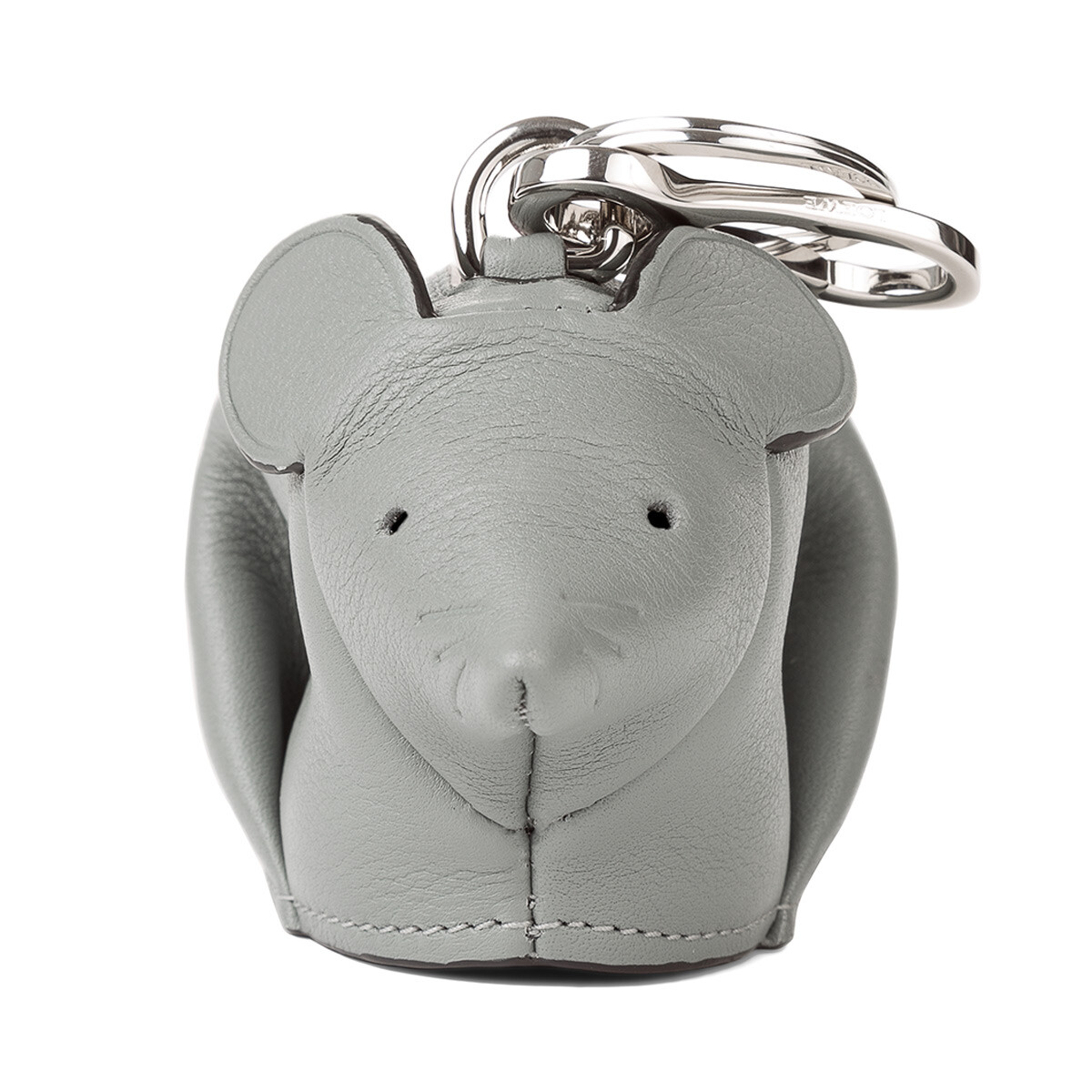 LOEWE Mouse Charm Grey/Candy front
