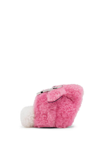 LOEWE Bunny Charm In Shearling Wild Rose pdp_rd