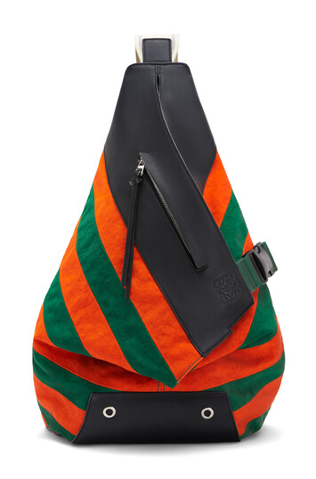 LOEWE Anton Rugby Backpack Green/Orange front