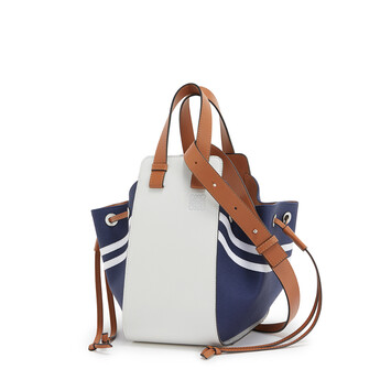 LOEWE Hammock Drawstring Sailor Small Bag Deep Blue/Soft White front