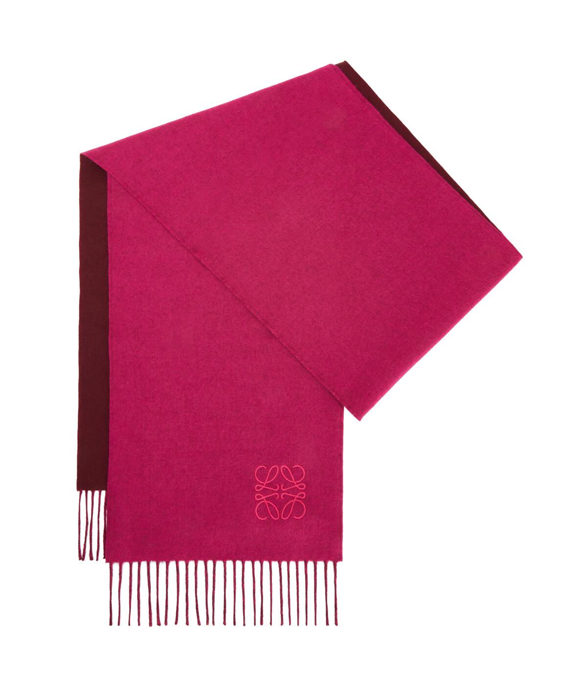 LOEWE 30X180 Anagram Scarf 桃紅色/酒紅色 front