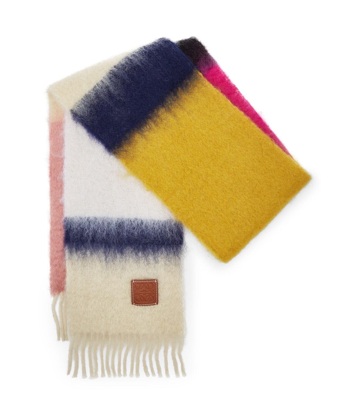 LOEWE 23X185 Scarf Stripes Rosa/Negro all