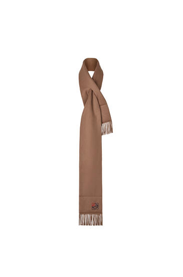 LOEWE 17 X 190 Cm Padded Anagram Scarf In Cashmere 駝色 pdp_rd