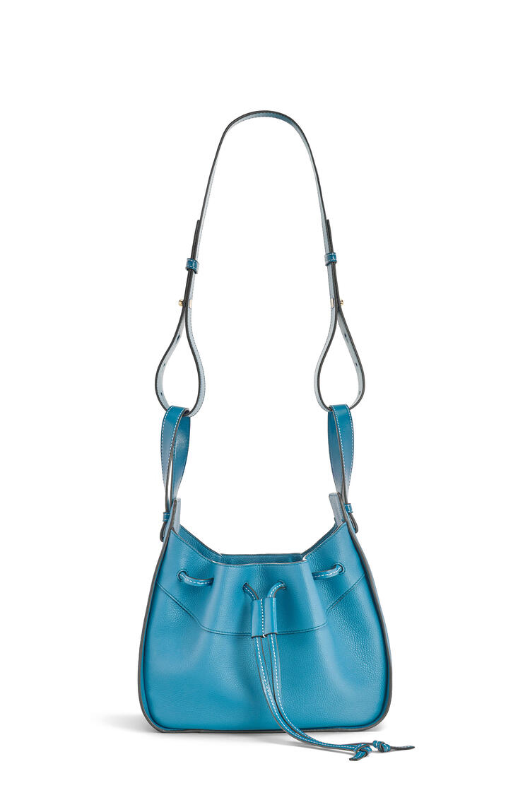 LOEWE Small Hammock Drawstring Bag In Soft Grained Calfskin Dark Lagoon pdp_rd