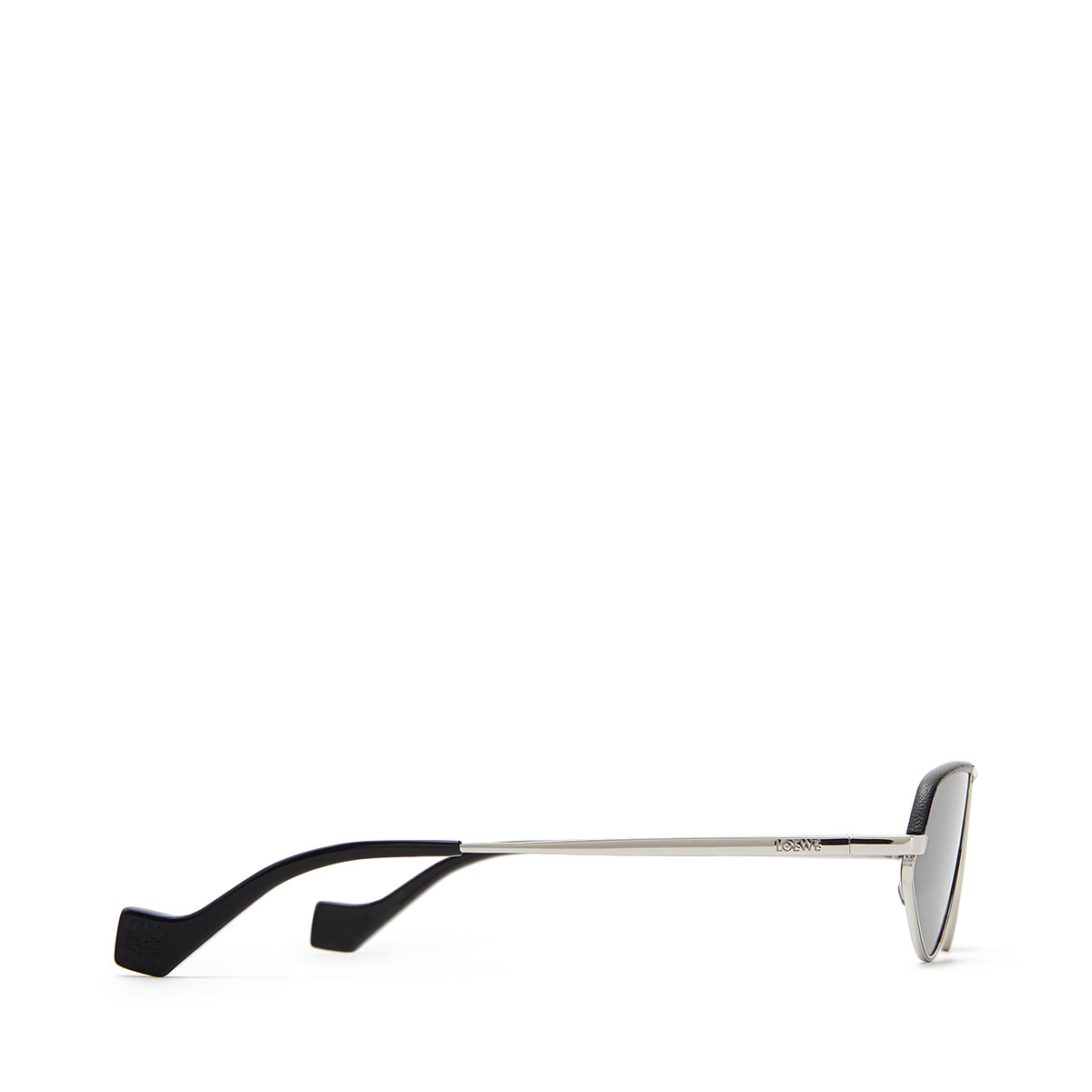 LOEWE Leather Geometric Sunglasses アンスラサイト front
