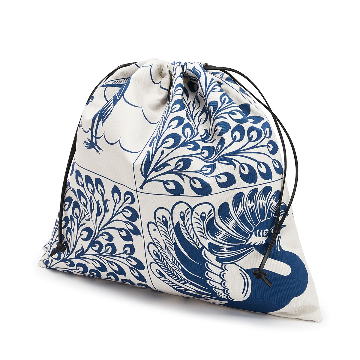 LOEWE Drawstring Pouch Tiles Large 蓝色 front