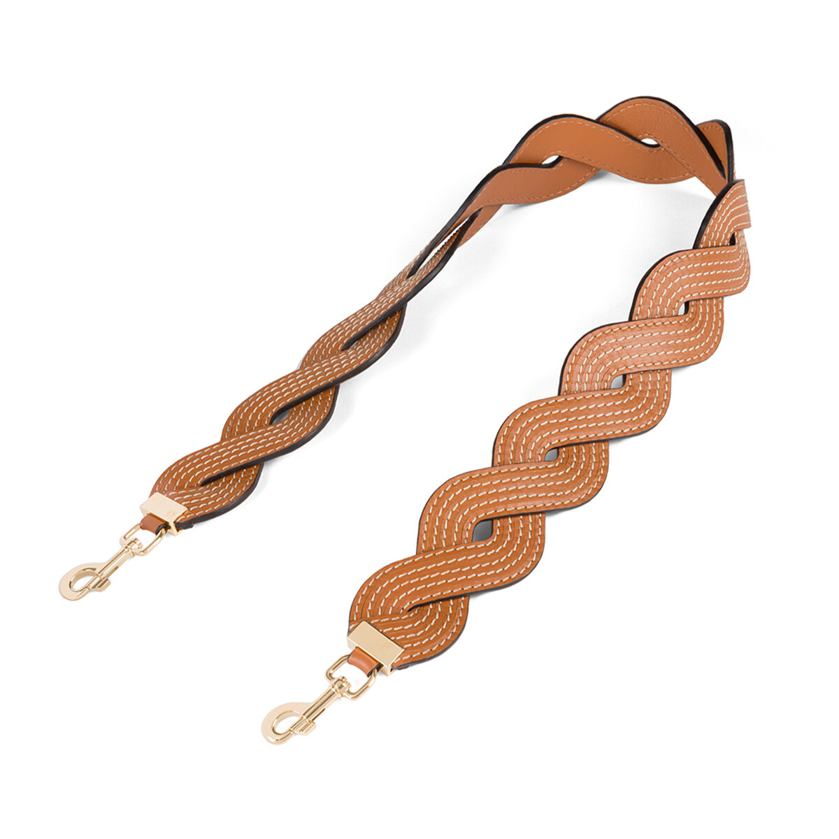 LOEWE Wavy Stitches Strap Tan front