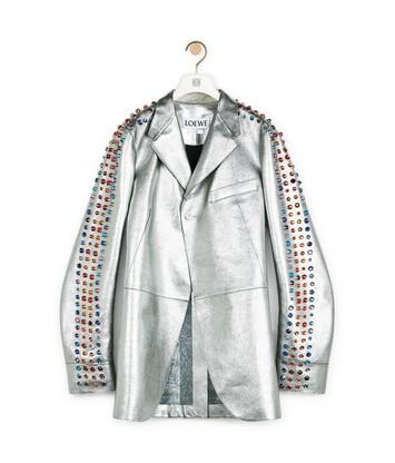 LOEWE Silver Jacket Rhinestones Silver front