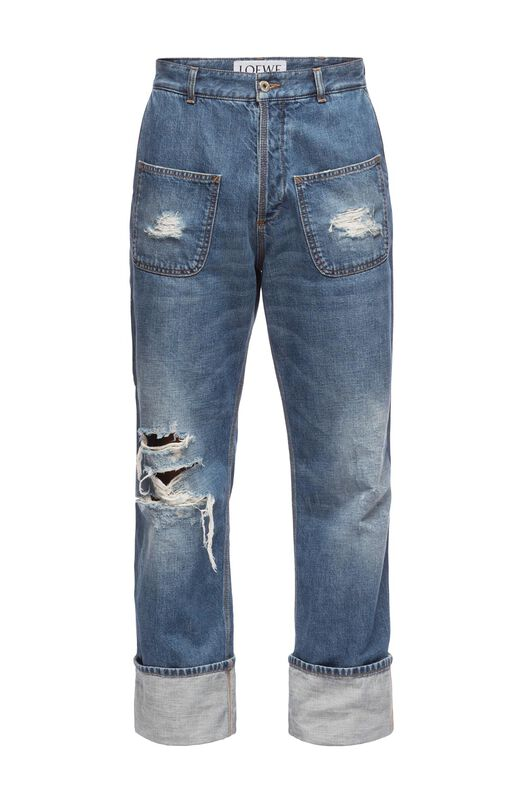 LOEWE Patch Pocket Jeans Stonewashed Azul front