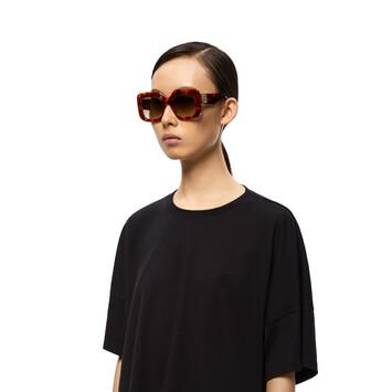 LOEWE Acetate Rectangular Sunglasses 雪茄色 front