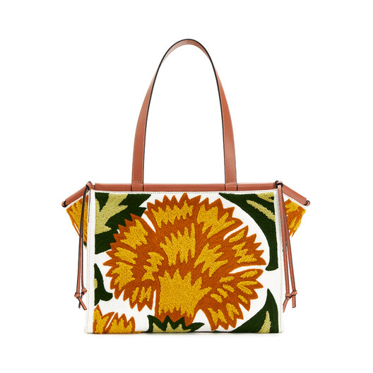 LOEWE Cushion Tote Floral Bag Yellow front