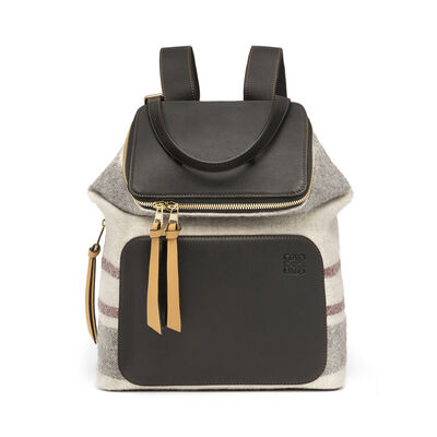 LOEWE Goya Stripes Small Backpack Multicolor/Black front