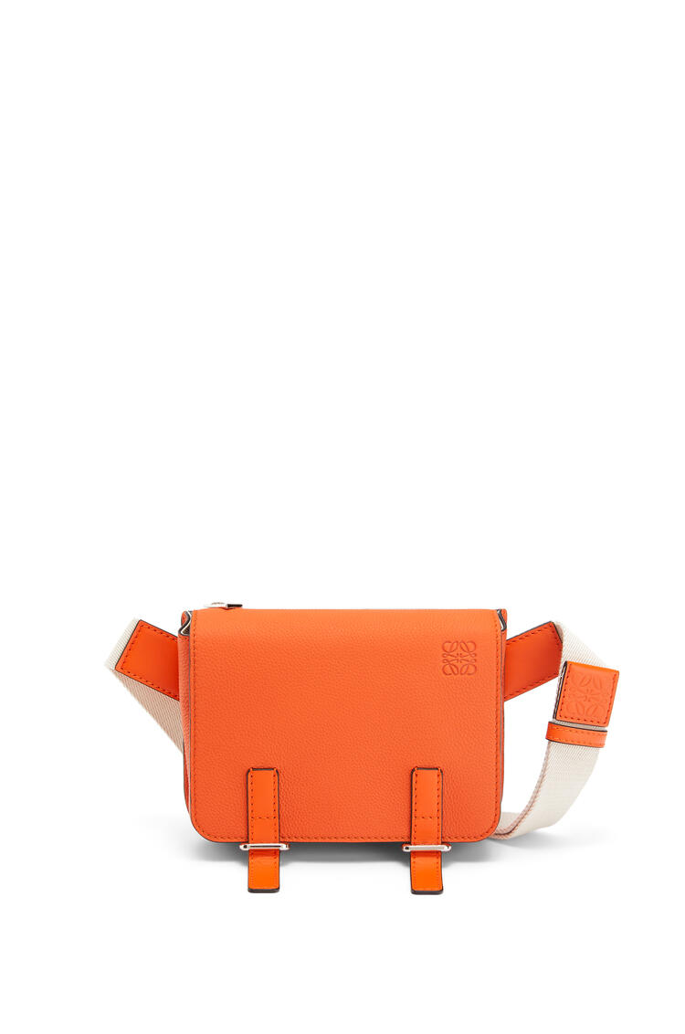 LOEWE Military bumbag in soft grained calfskin Orange pdp_rd
