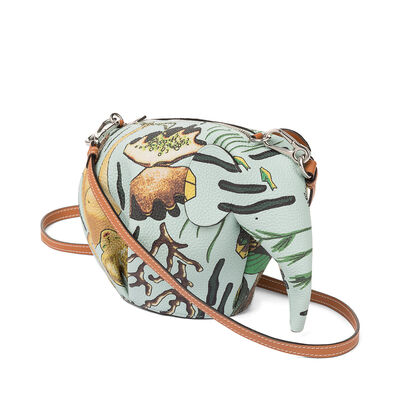 LOEWE Eleph Paula Mermaid Mini Bag Aqua front