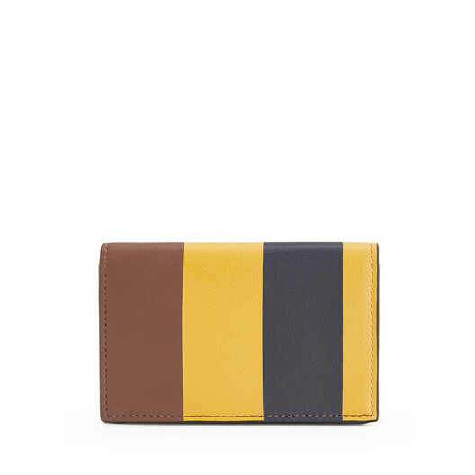 LOEWE Stripes Business Cardholder Yellow Mango/Marine front