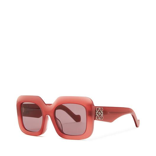 LOEWE Acetate Rectangular Sunglasses 草莓红 front