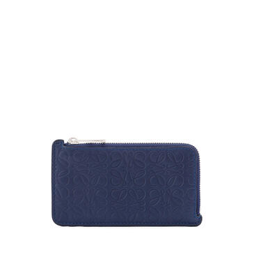 LOEWE Coin cardholder in calfskin Navy Blue pdp_rd