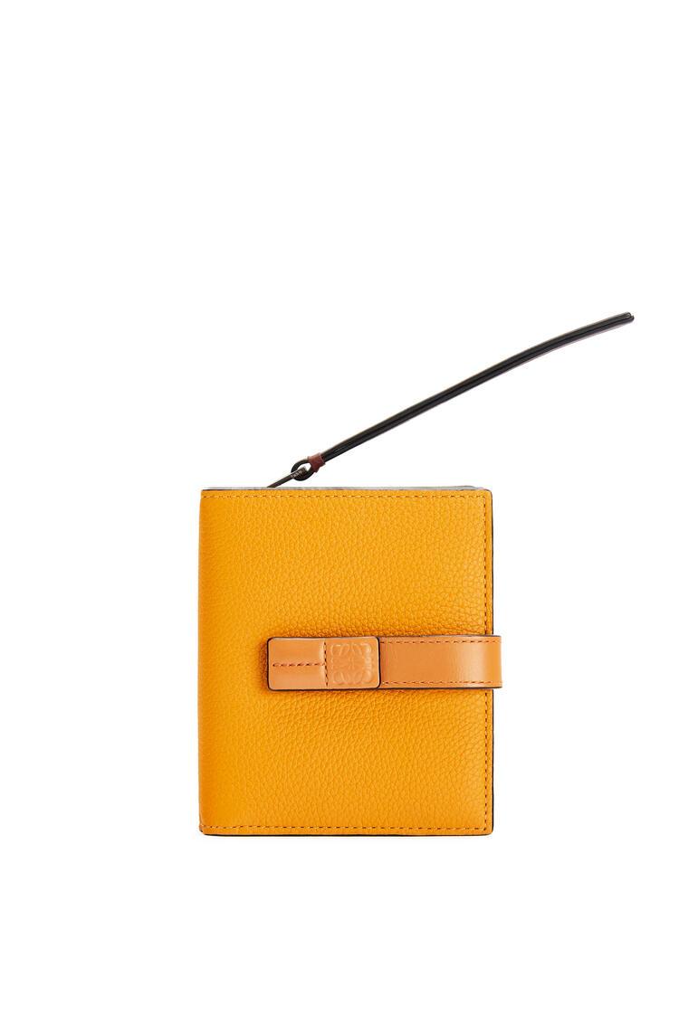 LOEWE Compact zip wallet in soft grained calfskin Sunflower/Honey pdp_rd