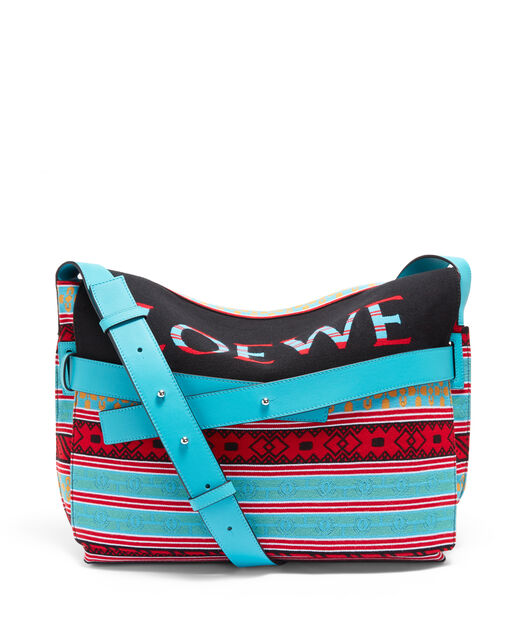 LOEWE Bolso Strap Messenger Knit Multicolor front