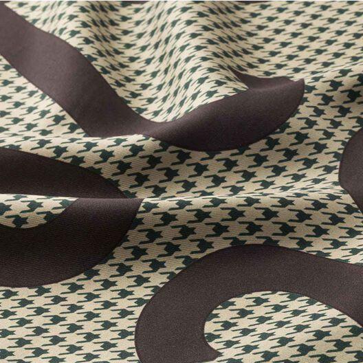 LOEWE 90X90 スカーフチェックアナグラム Dark Brown/Dark Green all