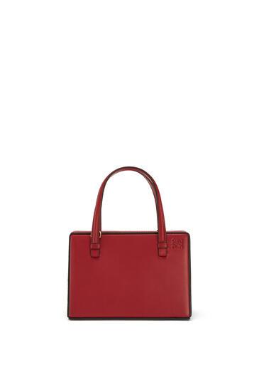 LOEWE Small Postal Bag In Natural Calfskin Garnet pdp_rd