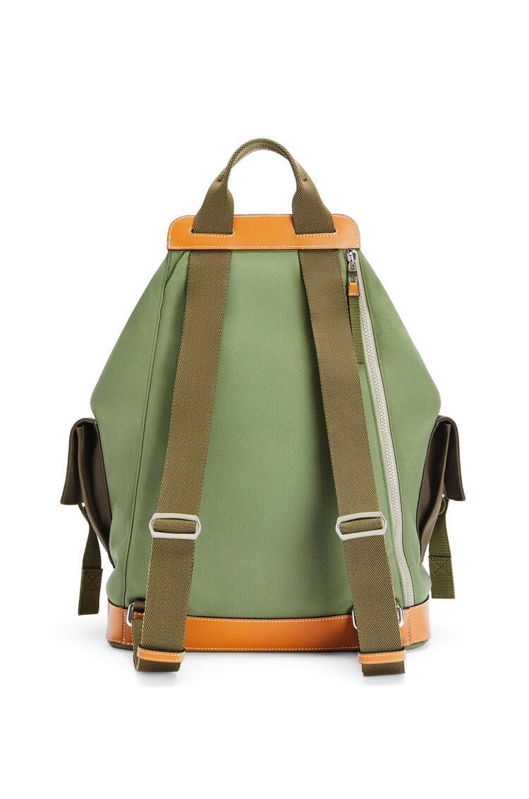 LOEWE Convertible backpack in canvas Khaki Green pdp_rd