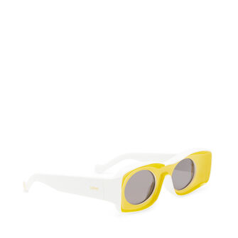 LOEWE Paula Sunglasses イエロー/ホワイト front