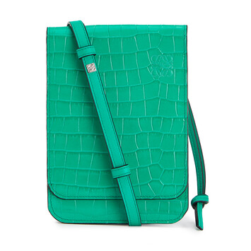 LOEWE Gusset Flat Crossbody Bag Apple Green front