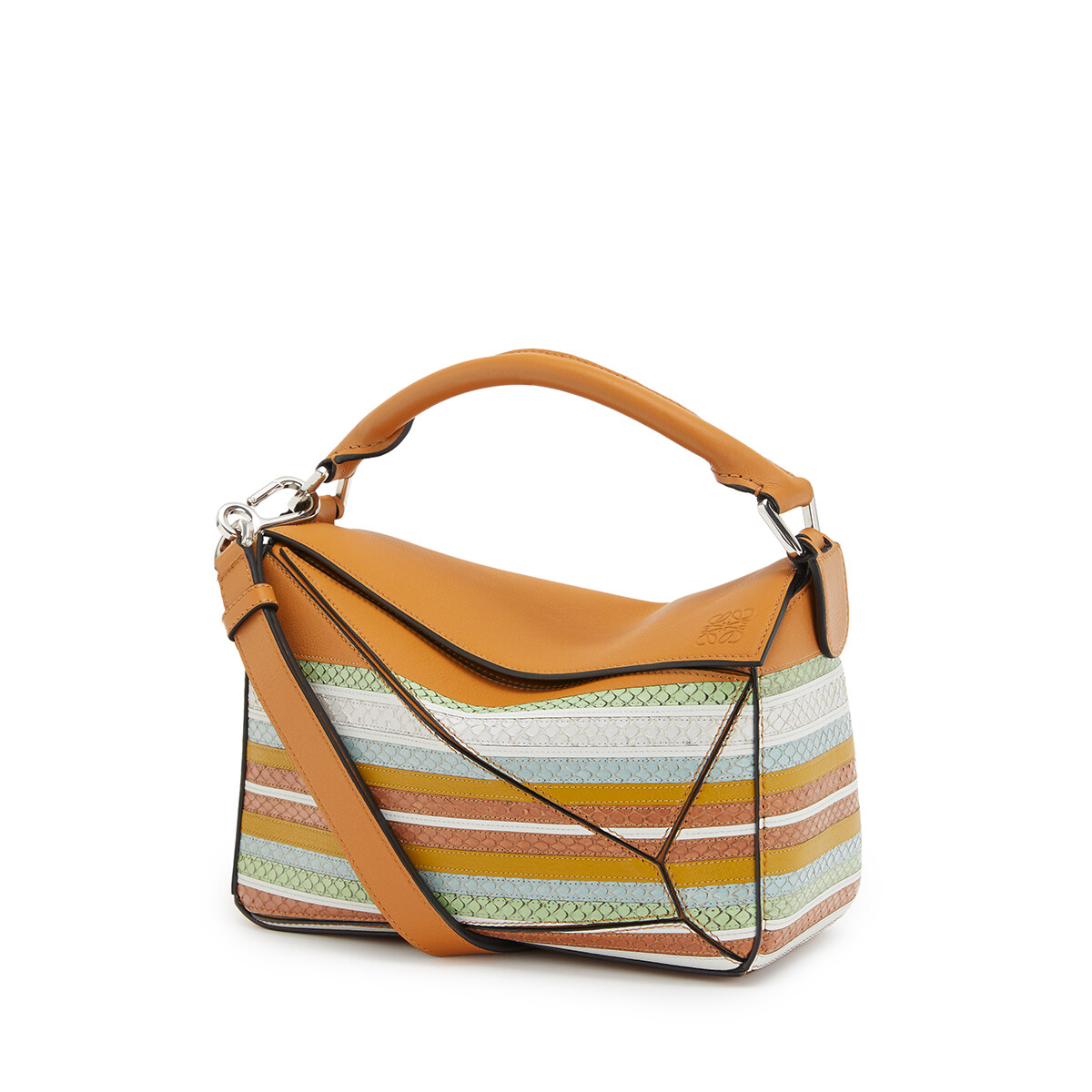 LOEWE Puzzle Marine Small Bag Honey/Multicolor front