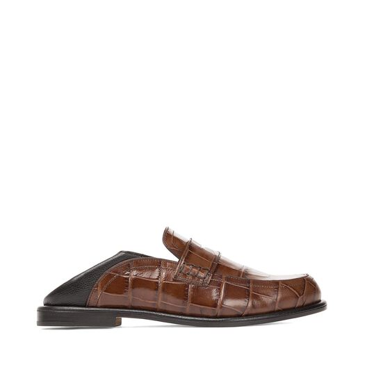 LOEWE Slip On Loafer 深棕色/黑色 front
