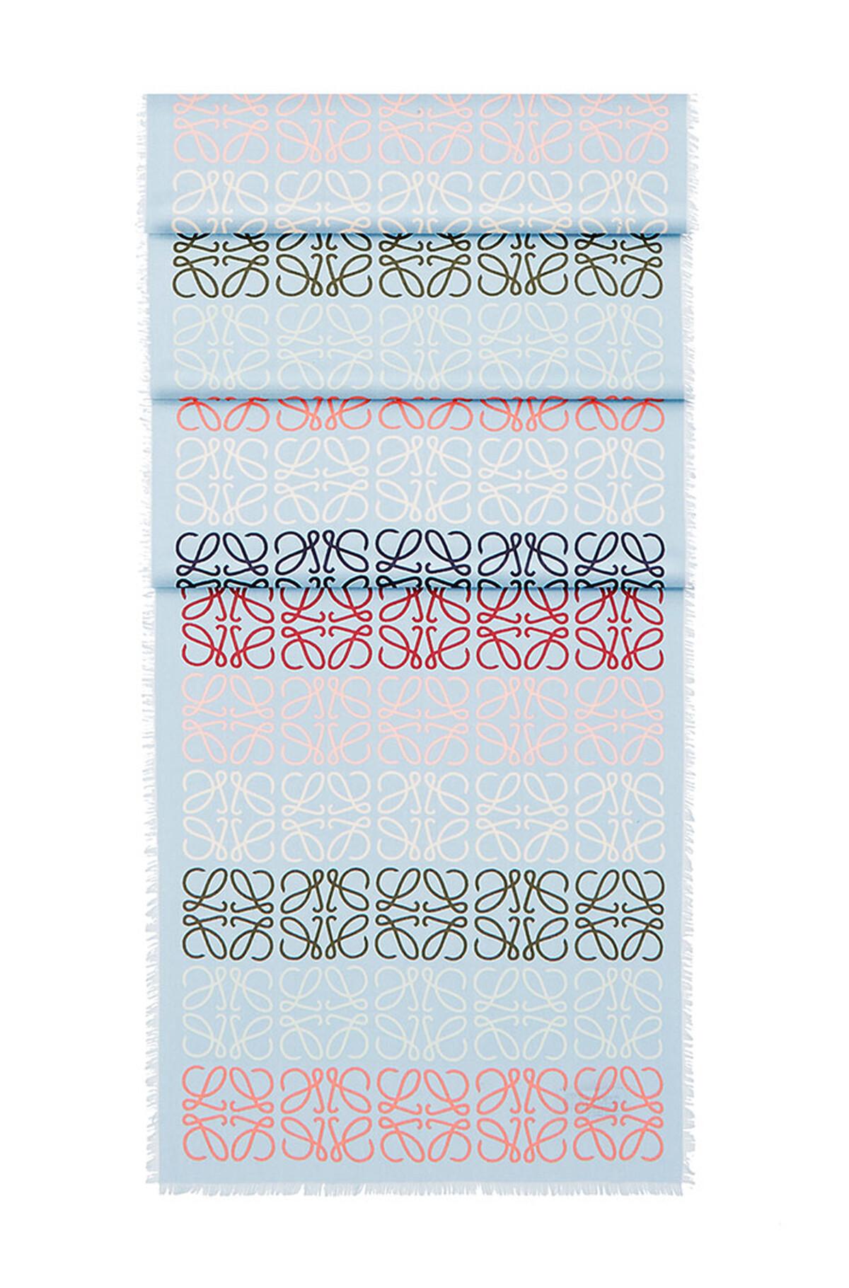 LOEWE 45X200 Anagram Scarf 藍色/多色 front