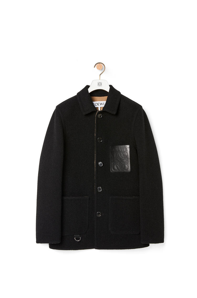 LOEWE Workwear jacket in wool and cashmere Black pdp_rd