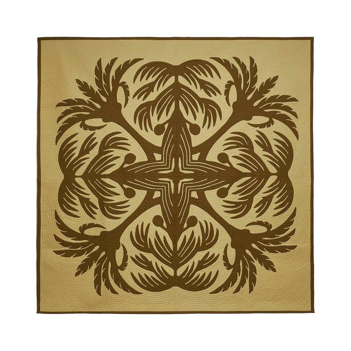 LOEWE 230X230 棕榈树毯子 绿色 front