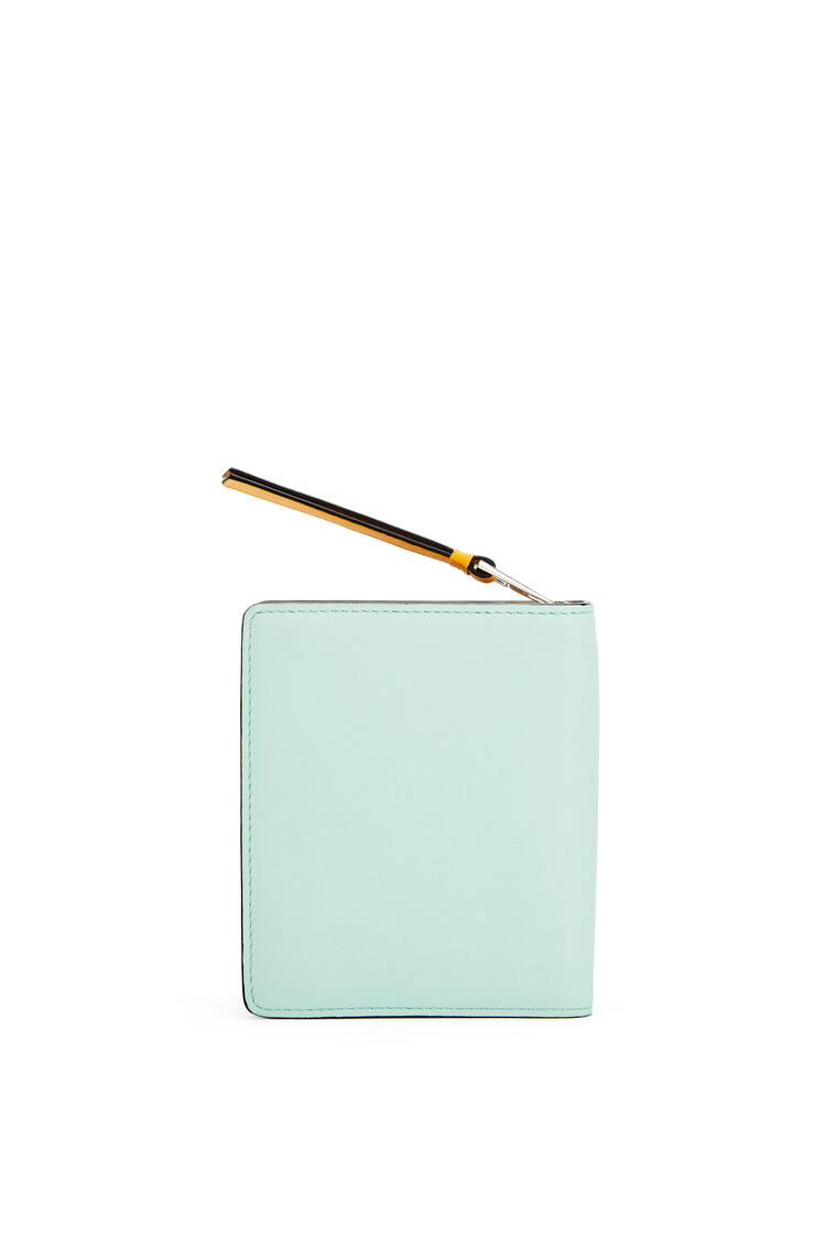 LOEWE La Palme compact zip wallet in classic calfskin Yellow Mango/Multicolor pdp_rd